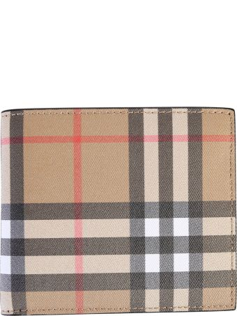 Burberry Checked Leather Wallet