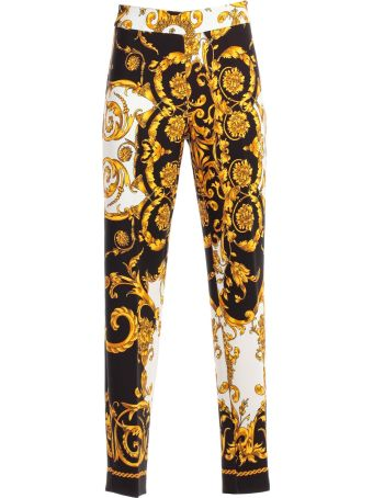 Parosh Pants Skinny Printed Baroque