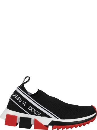 Dolce & Gabbana Sock-detailed Slip-on Sneakers