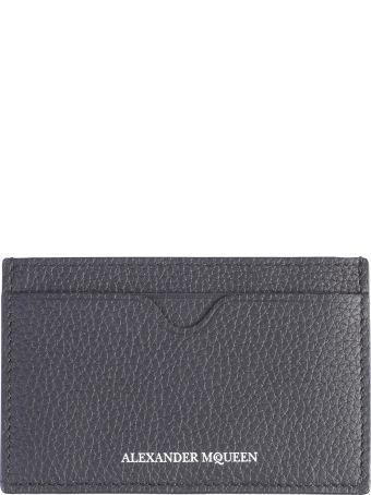 Alexander McQueen Black Branded Card Holder