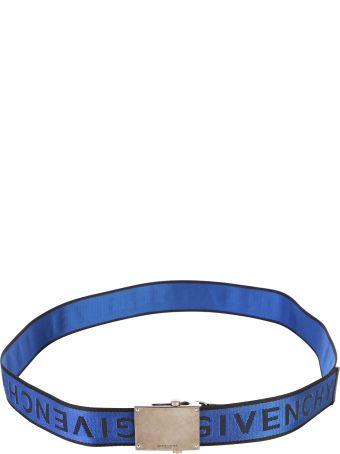 Givenchy Blue Branded Belt