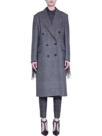 Max Mara Wool Fringed Coat