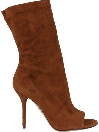 Aquazzura Touche Open Toe Boots