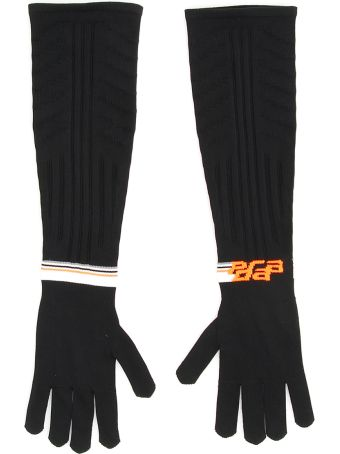 Prada Techno Nylon Long Gloves