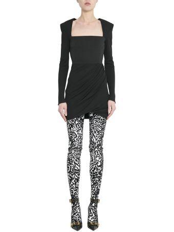 Versace Black Crepe Draped Dress