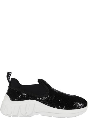 Miu Miu Sequined Slip-on Sneakers