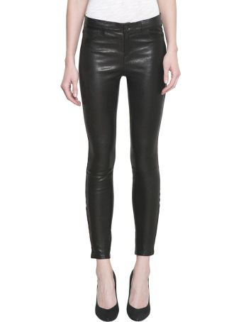 J Brand Skinny Mid Rise Leather Pants