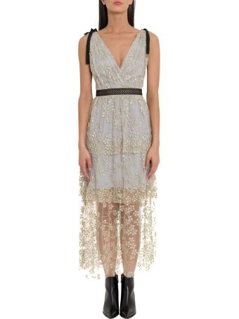 self-portrait Lace Midi Dress With Beads Embroidery