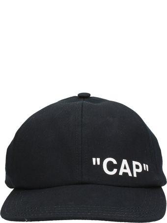 Off-White Black Cotton Hat