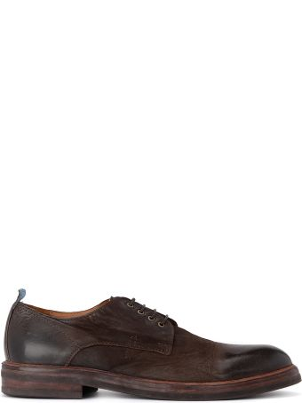 Moma Bandolero Old Dark Brown Leather Lace Up Shoes.