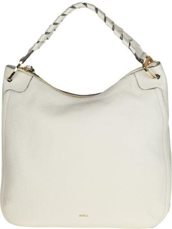"""Furla """"rialto Xl"""" Bag In White Color Leather"""