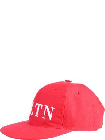 Valentino Garavani Red Branded Baseball Hat