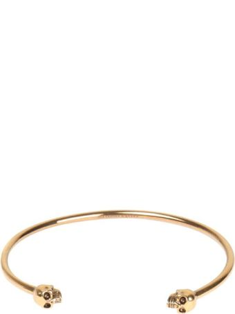 Alexander McQueen Twin Skull Bangle