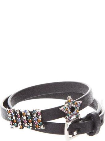 Dior Leather Bracelet With Rhinestones Dior