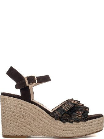 Paloma Barcelò Brown Puget Suede Wedge Sandal