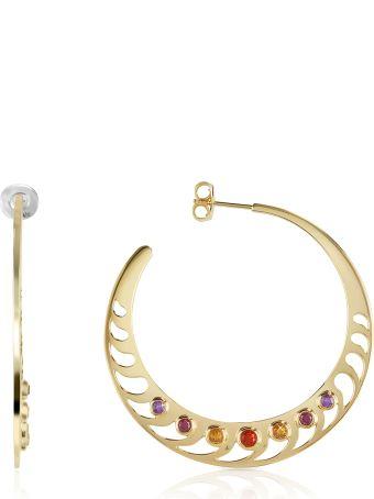 Sho London Mari Rush Silver Vermeil Hoop Earrings
