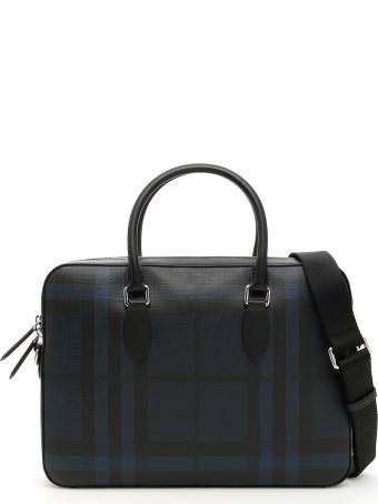 Burberry Hambleton Check Briefcase