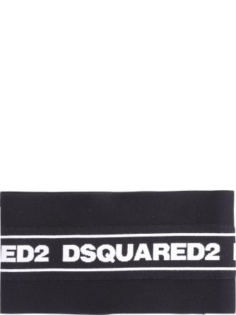 Dsquared2 Black Branded Scarf