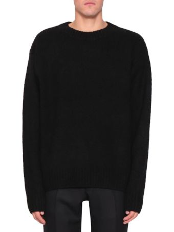 Dries Van Noten Black Mohair And Cashmere Blend Sweater