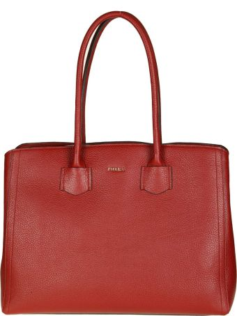 """Furla Shopping """"alba L"""" In Leather Color Giliegia"""