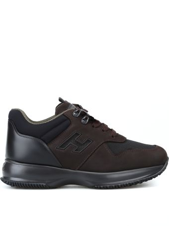 Hogan Interactive Brown Nubuck Sneakers