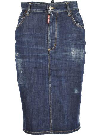 D Squared Denim Skirt