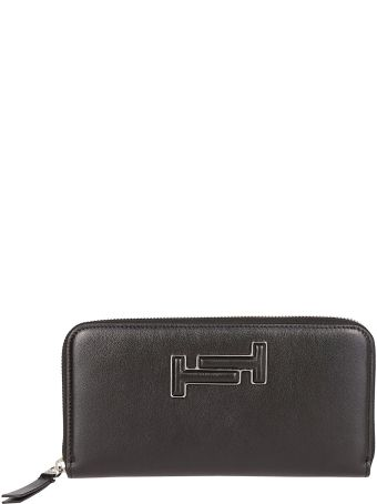 Tod's Double T Patch Zip-around Wallet
