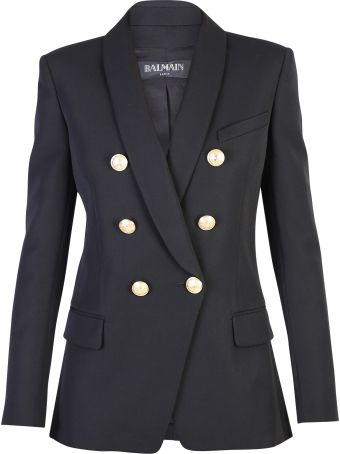 Balmain Black Double-breasted Jacket