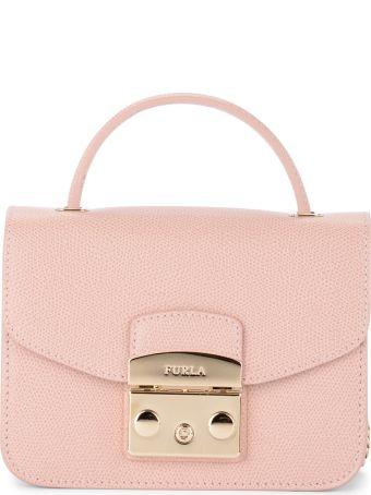 Furla Metropolis Mini Pink Leather Shoulder Bag