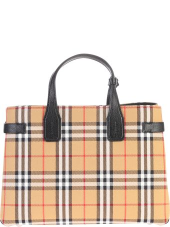 Burberry Banner M Canvas And Leather Bag