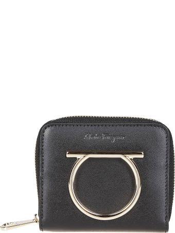 Salvatore Ferragamo Logo Plaque Zip Around Wallet
