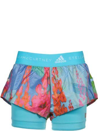 Adidas By Stella Mccartney Run Two-in-one Printed Shorts