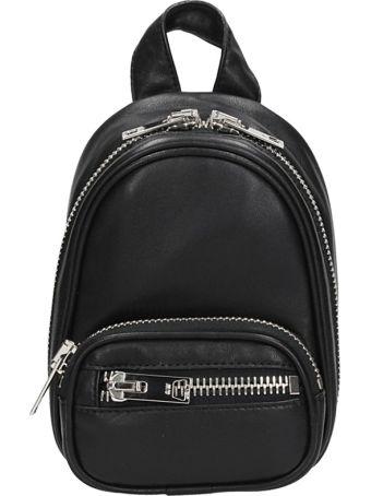 Alexander Wang Black Leather Attica Backpack