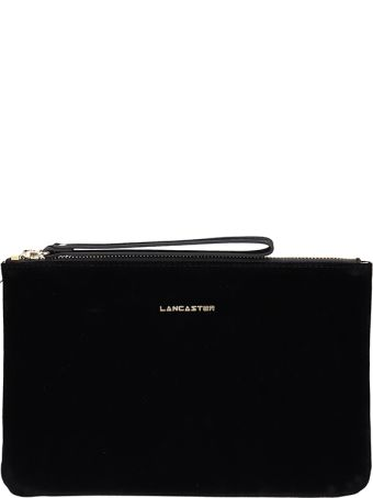 Lancaster Paris Black Velvet Clutch