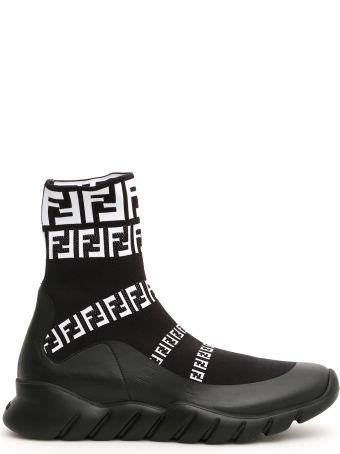 Fendi Logo Sock Sneakers
