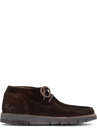 Moma Bear Dark Brown Old Crust Ankle Boots.