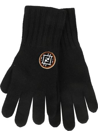 Fendi Logo Patch Gloves