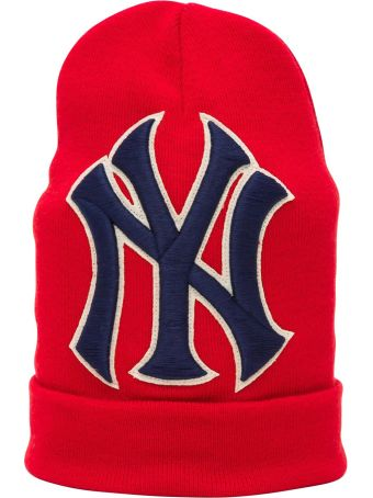 Gucci Wool Hat With Ny Yankees  Patch