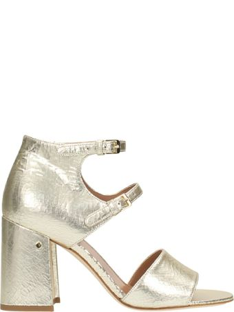 Laurence Dacade Randal Laminated Gold Leather Sandals