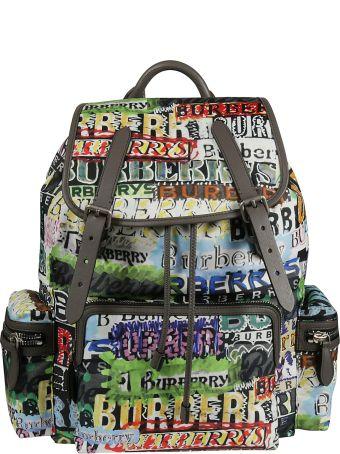 Burberry Large Rucksack Logo Backpack