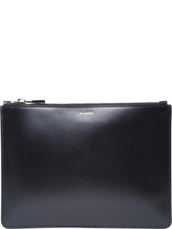 Jil Sander Envelope Md Smooth-leather Clutch