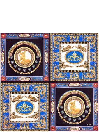 Versace The Lovers-print Silk-twill Scarf