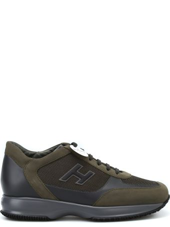 Hogan Interactive Nubuck And Techno Fabric Sneakers