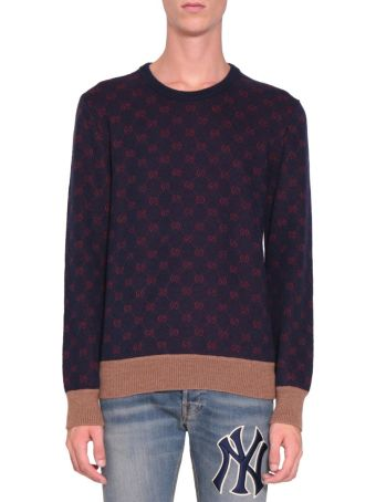 Gucci Gg Jacquard Wool Sweater