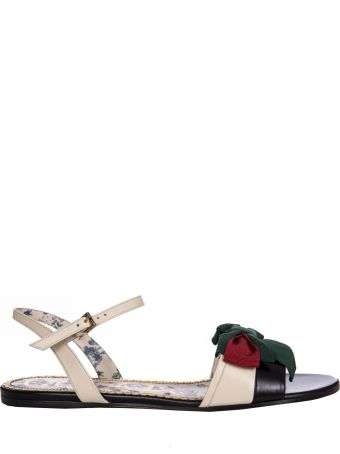 Gucci Bow Embellished Flat Sandals
