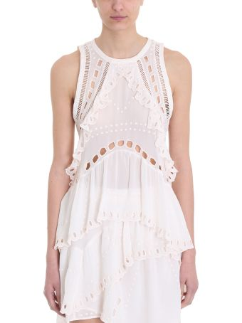 IRO Powder Paya Eyelet Embroidered Sleeveless Top