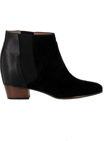 Golden Goose Black Suede/leather Ankle Boots