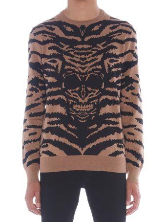 Alexander McQueen 'animalier Skull' Sweater