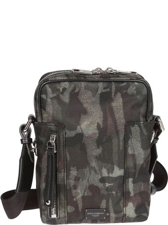 Dolce & Gabbana Camo Print Shoulder Bag