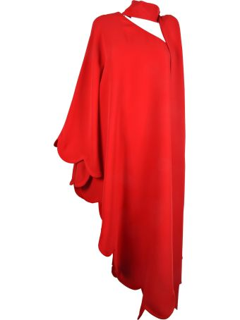 Valentino Asymmetric Scalloped Edge Dress